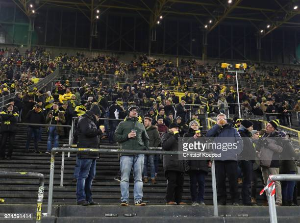 A view of the half empty south stand that normally holds 26000 fans as the fans make their protest against monday evening matches prior to the...