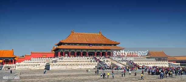 View of the Hall of Supreme Harmony at the Forbidden City in Beijing China