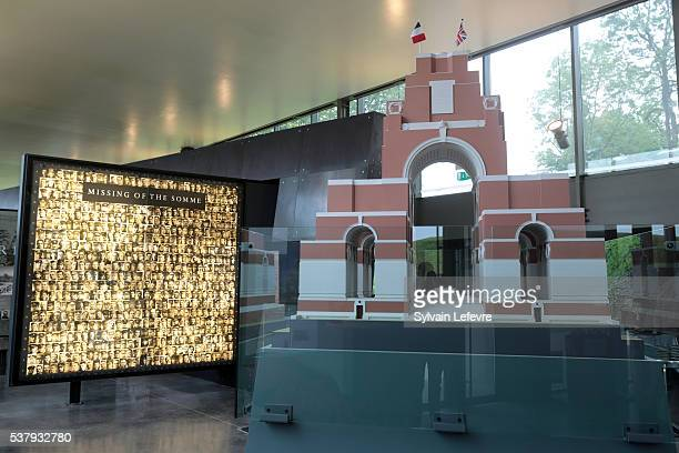 View of the hall of the new WW1 Thiepval Visitor and Interpretation museum division opened on the Centenary Of The Battle Of The Somme on June 3,...