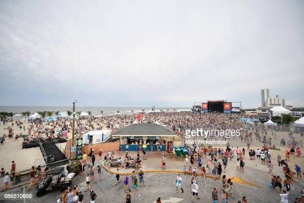 A view of the Hangout Stage from the Ferris Wheel during 2017 Hangout Music Festival on May 21 2017 in Gulf Shores Alabama