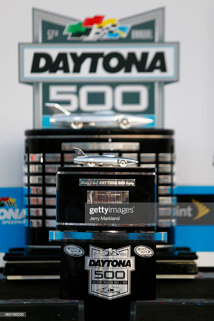 A View Of The Harley J Earl Trophy Behind And Its Replica In News Photo Getty Images