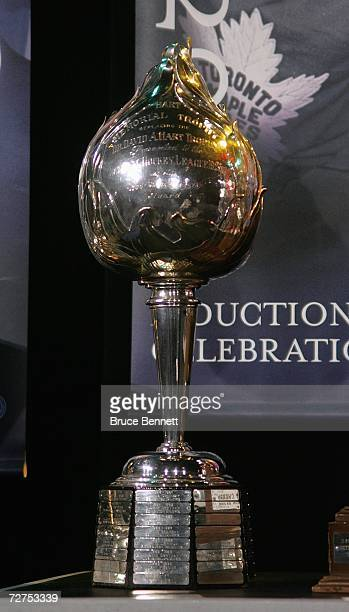 A view of the Hart Memorial Trophy during a photo opportunity prior to the Hockey Hall of Fame Induction Ceremonies on November 13 2006 at the Hockey...