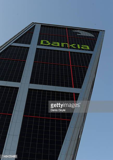 View of the headquarters of Bankia SA on May 29 2012 in Madrid Spain Spanish borrowing costs have increased after the government announced a rescue...