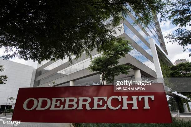 View of the headquarters of Brazilian construction giant Odebrecht SA in Sao Paulo Brazil on March 2 2017 For years Brazilbased Odebrecht one of the...