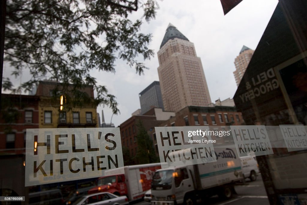 view of the hells kitchen neighborhood from the hells kitchen restaurant on 9th avenue and 47th - Hells Kitchen Neighborhood