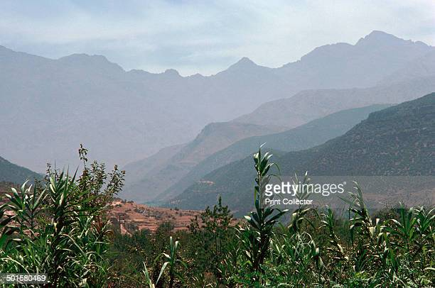 View of the High Atlas mountains from Asni south of Marrakesh