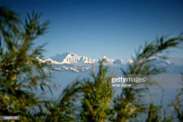 A view of the Himalayas from Tiger Hill in Darjeeling The town lies at 2500 meters in the Himalayas in the state of West Bengal Trekking season is...