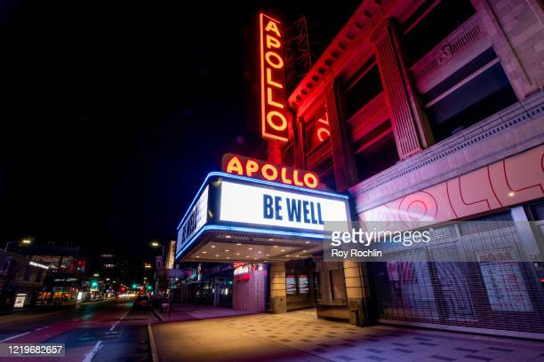 View of the historic Apollo Theater in Harlem which has been shut down amid the coronavirus pandemic on April 18, 2020 in New York, United States....