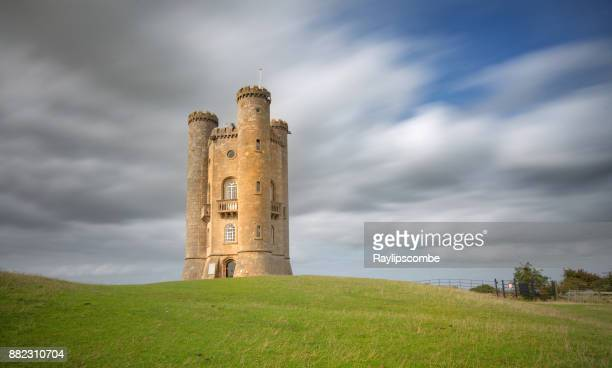 View of the historic Broadway Tower which sits high on the Cotswold escapment at 1024 feet