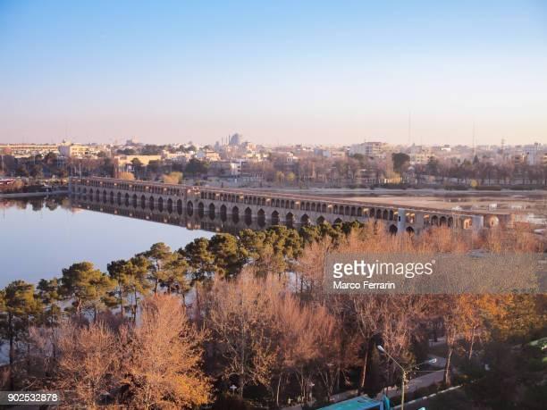 view of the historic city of isfahan, iran - isfahan ストックフォトと画像
