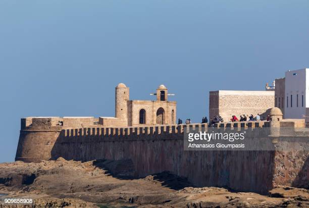 View of the historic Essaouira walled medina from the port on January 05 2018 in Essaouira Morocco Essaouira is a port city and resort on Morocco's...