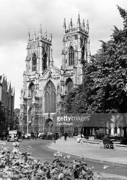 A view of the historic York Minster where the Duke of Kent will be married to Katharine Worsley in York England April 51961