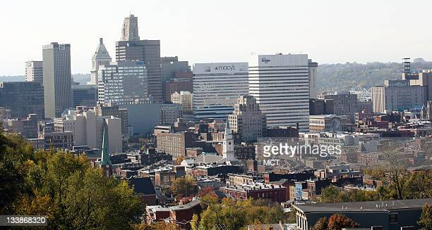 A view of the historical OvertheRhine area of Cincinnati Ohio with the skyline of downtown Cincinnati as seen on Friday November 4 2011 The nation's...