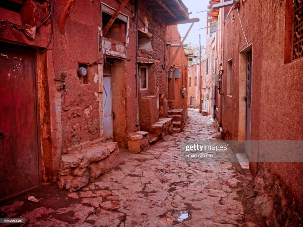 View of the Historical Village of Abyaneh, Iran - 28 April 2017 : Stock Photo