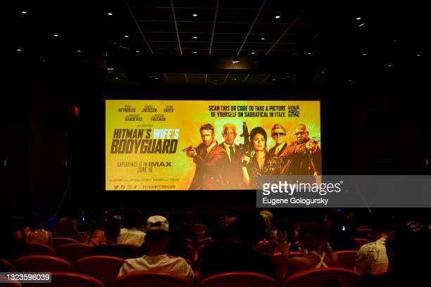 """View of the """"Hitman's Wife's Bodyguard"""" special screening at Crosby Street Hotel on June 14, 2021 in New York City."""