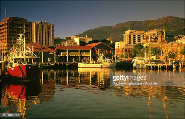 A view of the Hobart waterfront, southern Tasmania.