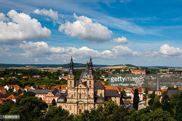 View of the Hoher Dom cathedral and the Michaelskirche church, Fulda, Germany, Europe