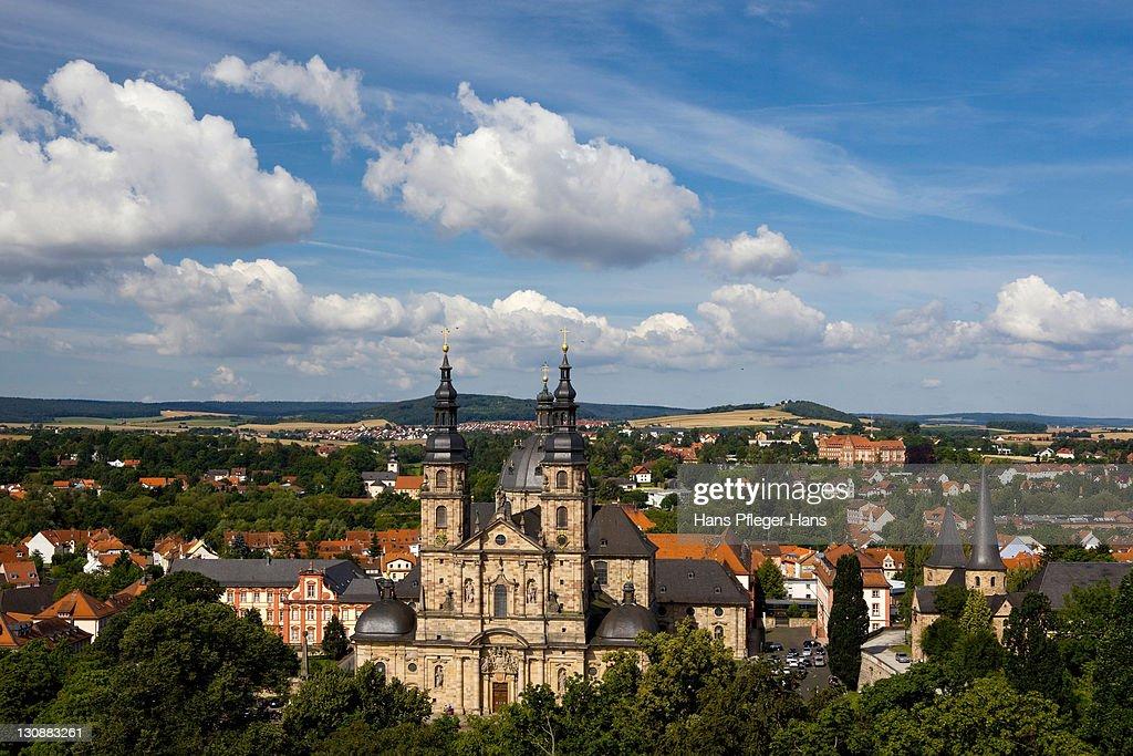Fulda. Fulda Palace Germany With Fulda. Fabulous View Towards The ...