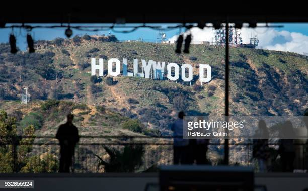 View of the Hollywood Sign on March 15 2018 in Los Angeles California
