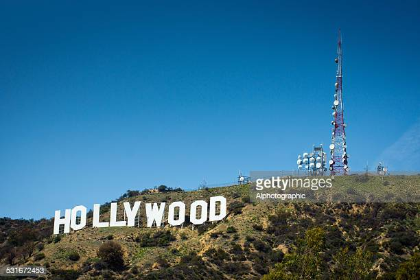 view of the hollywood sign - hollywood sign stock pictures, royalty-free photos & images