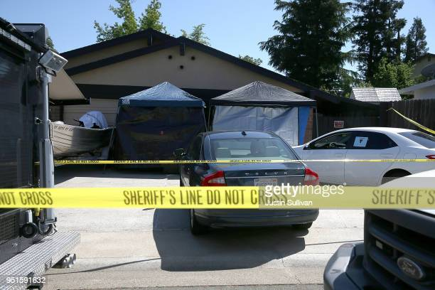 A view of the home of accused rapist and killer Joseph James DeAngelo on April 24 2018 in Citrus Heights California Sacramento District Attorney Anne...