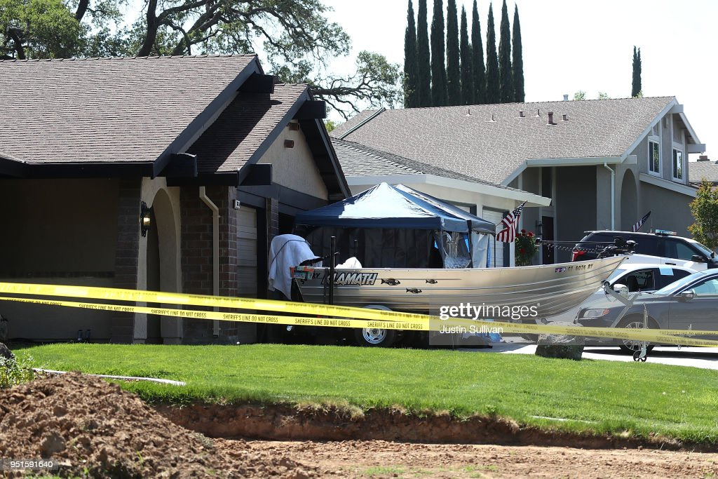 A view of the home of accused rapist and killer Joseph James DeAngelo on April 24, 2018 in Citrus Heights, California. Sacramento District Attorney Anne Marie Schubert was joined by law enforcement officials from across California to announce the arrest of 72 year-old Joseph James DeAngelo who is believed to be the the East Area Rapist, also known as the Golden State Killer, who killed at least 12, raped over 45 people and burglarized hundreds of homes throughout California in the 1970s and 1980s.