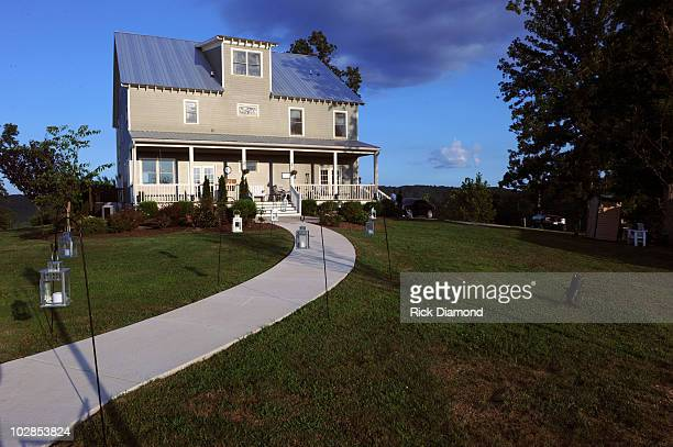 A view of the home that housed Miranda Lambert and Blake Shelton's engagement party at Front Porch Farms on June 23 2010 in Charlotte Tennessee