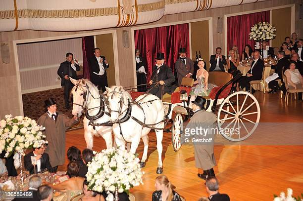View of the horse and carriage presentation during the 56th annual Viennese Opera Ball at The Waldorf=Astoria on February 4, 2011 in New York City.
