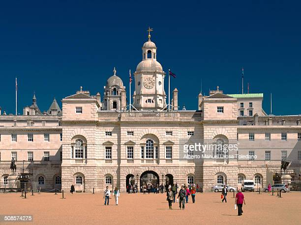 A view of the Horse Guards parade located in London There are a few tourist visiting this area one of the sightseeing in the city