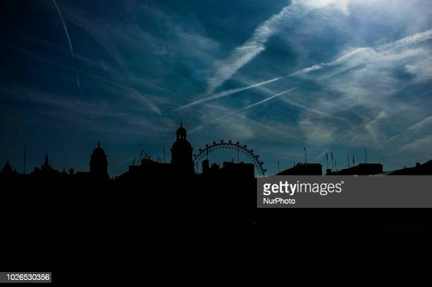 View of the Horse GUards Parade's silhouette London on September 3 2018