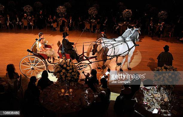A view of the horsedrawn carriage during the 56th annual Viennese Opera Ball at The Waldorf=Astoria on February 4 2011 in New York City