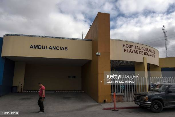 View of the Hospital General de Rosarito where allegedly Thomas Markle the father of Meghan Markle had been treated after a heart attack past week in...