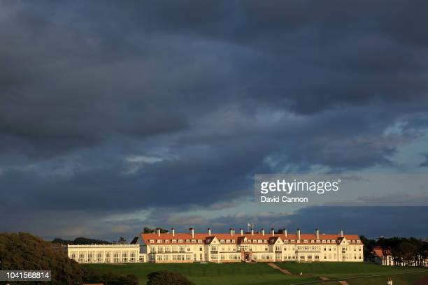 A view of the hotel at the Trump Turnberry Resort on September 4 2018 in Turnberry Scotland