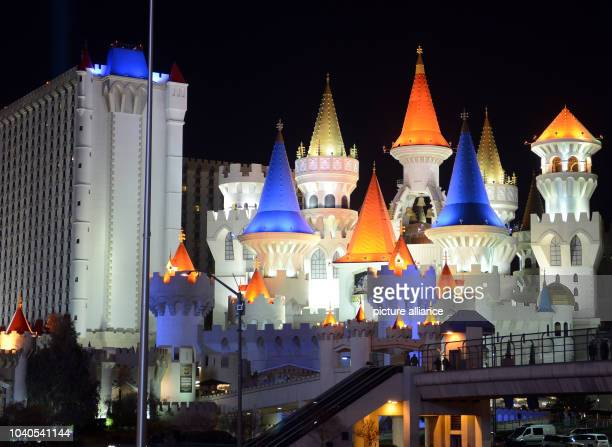 View of the Hotel Excalibur on the Las Vegas Strip an approximately 42 mile stretch of Las Vegas Boulevard South in Las Vegas USA 08 January 2014...