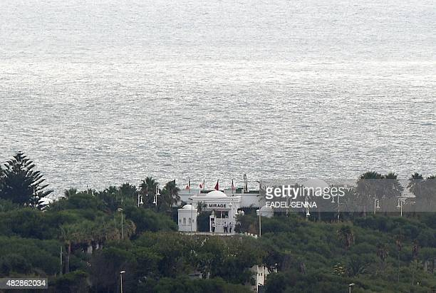 A view of the hotel Le Mirage near Cap Spartel in Tangier where part of Saudi King Salman's entourage will stay during their holidays in Morocco on...
