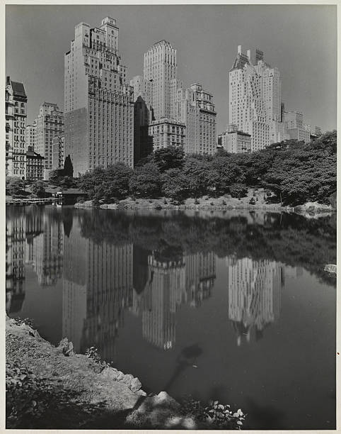 59th St Hotels Reflected In Park Lake Ii