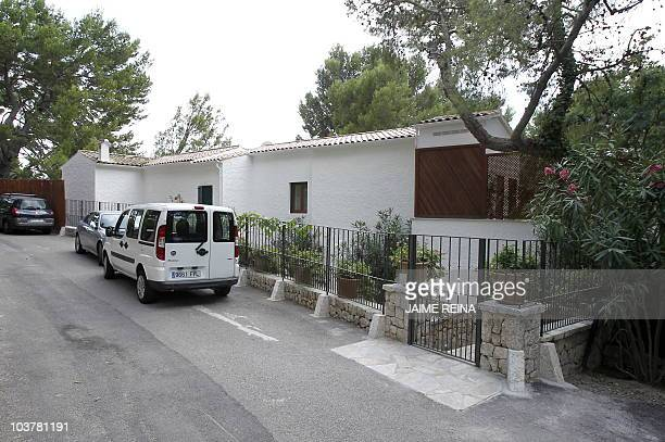 View of the house of France's L'Oreal heiress Liliane Bettencour at Formentor in Pollensa on the Spanish Island of Mallorca taken on September 2 2010...