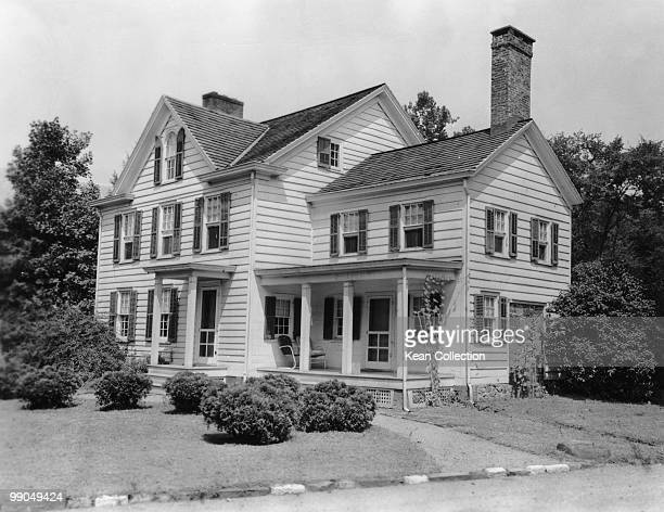View of the house which was the birthplace of the 22nd and 24th US President Grover Cleveland circa 1950 Cleveland was born here on 18 March 1837 at...