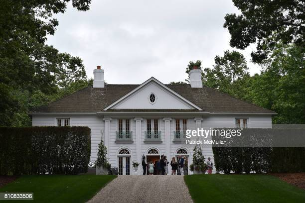 View of the house with Katrina and Don Peebles Host NY Mission Society Summer Cocktails at Private Residence on July 7 2017 in Bridgehampton New York