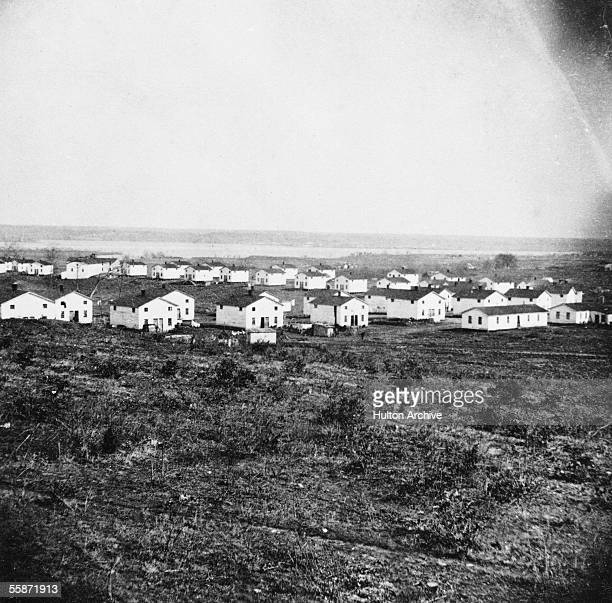 View of the houses at Freedman's Village a camp established by the US government on the Arlington Estate during the Civil War to house former slaves...