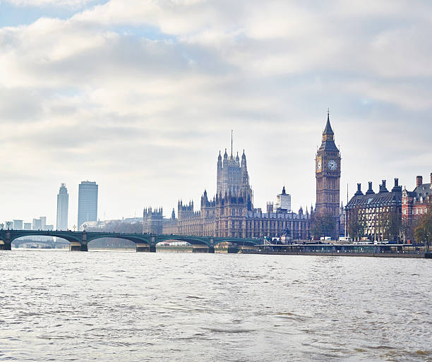 View Of The Houses Of Parliament And Westminster Bridge, London, UK Wall Art