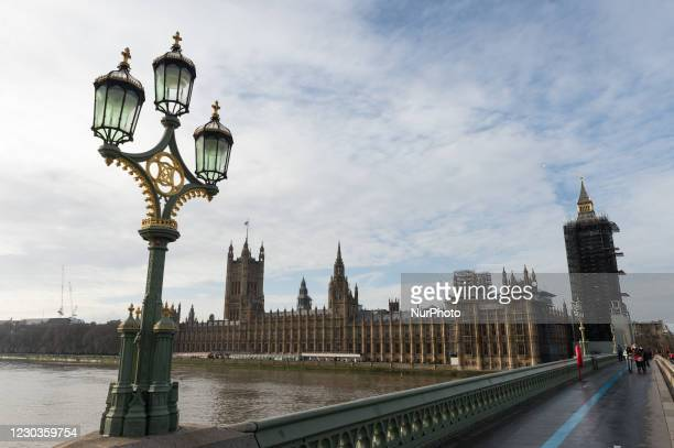 View of the Houses of Parliament as MPs debate and vote on the UK-EU post-Brexit trade deal, on 30 December, 2020 in London, England. British...