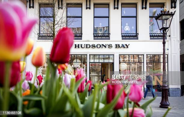 A view of the Hudson's Bay Dutch department chain store seen on April 12 in Amsterdam / Netherlands OUT
