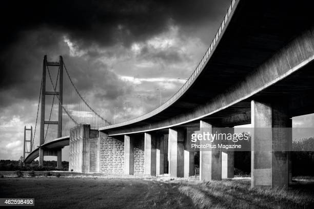 View of the Humber suspension bridge near Kingston upon Hull in northern England taken on April 30 2013