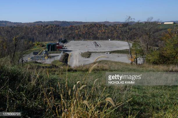 View of the Hunter Pad fracking site in Marianna, Pennsylvania, on October 22, 2020. - There are many complexities around the debate over fracking...