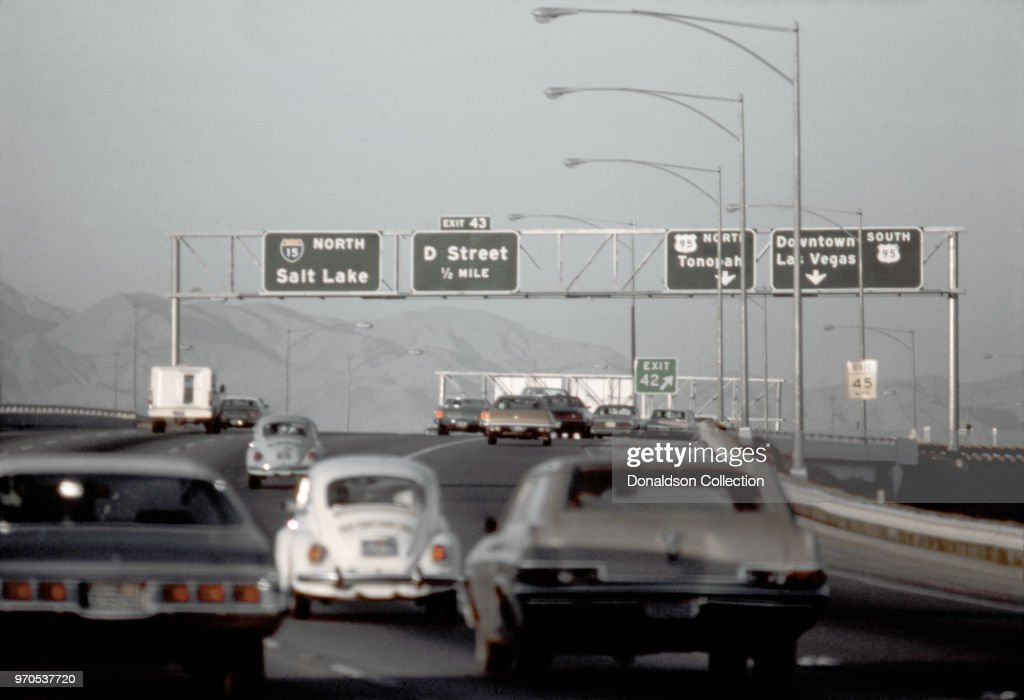 A view of the I15 Freeway in November 1975 in Las Vegas