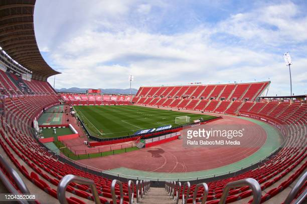 View of the Iberostar Estadi ahead of the Liga match between RCD Mallorca and Getafe CF at Iberostar Estadi on March 1, 2020 in Mallorca, Spain.