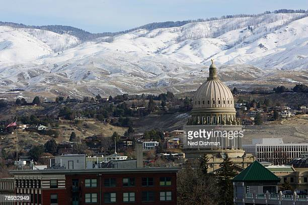A view of the Idaho State Capitol prior to the game between the Bakersfield Jam and the Utah Flash during the 2008 DLeague Showcase on January 14...