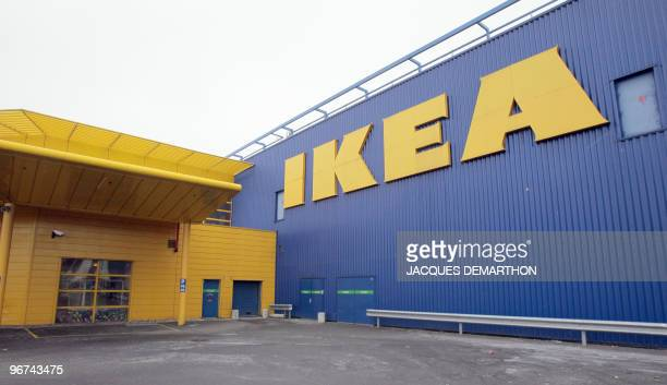 View of the Ikea store in RoissyenFrance north of Paris as workers of the Swedish furniture designer Ikea hold a national strike calling for higher...