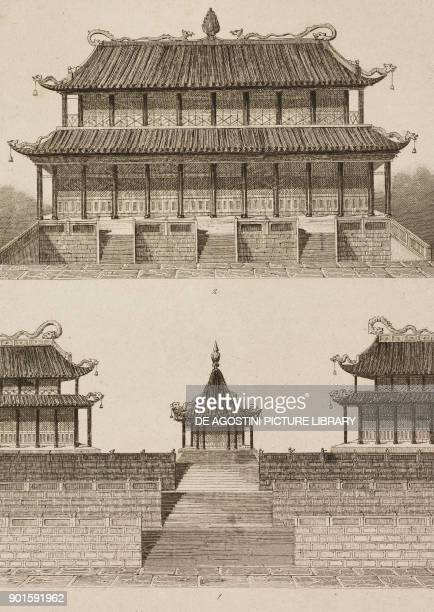View of the Imperial Palace in 1795 with the audience hall, Beijing, China, engraving by Lemaitre from Chine, ou, Description historique,...